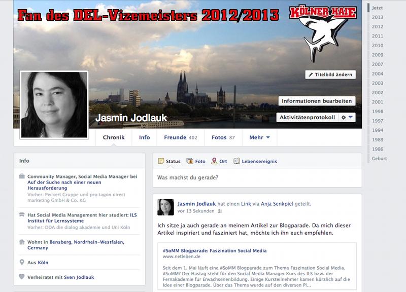 Artikelbild: Facebook-Profil