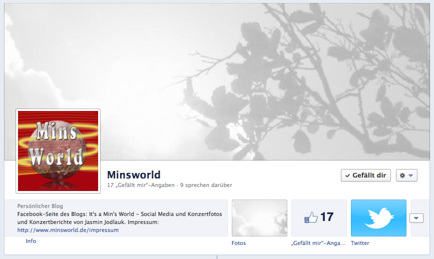 Minsworld.de bei Facebook