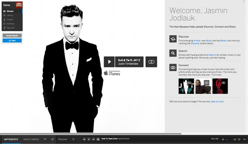 Artikelbild Myspace Home