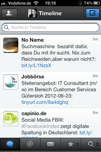 Tweetbot-App für iPhone - Timeline
