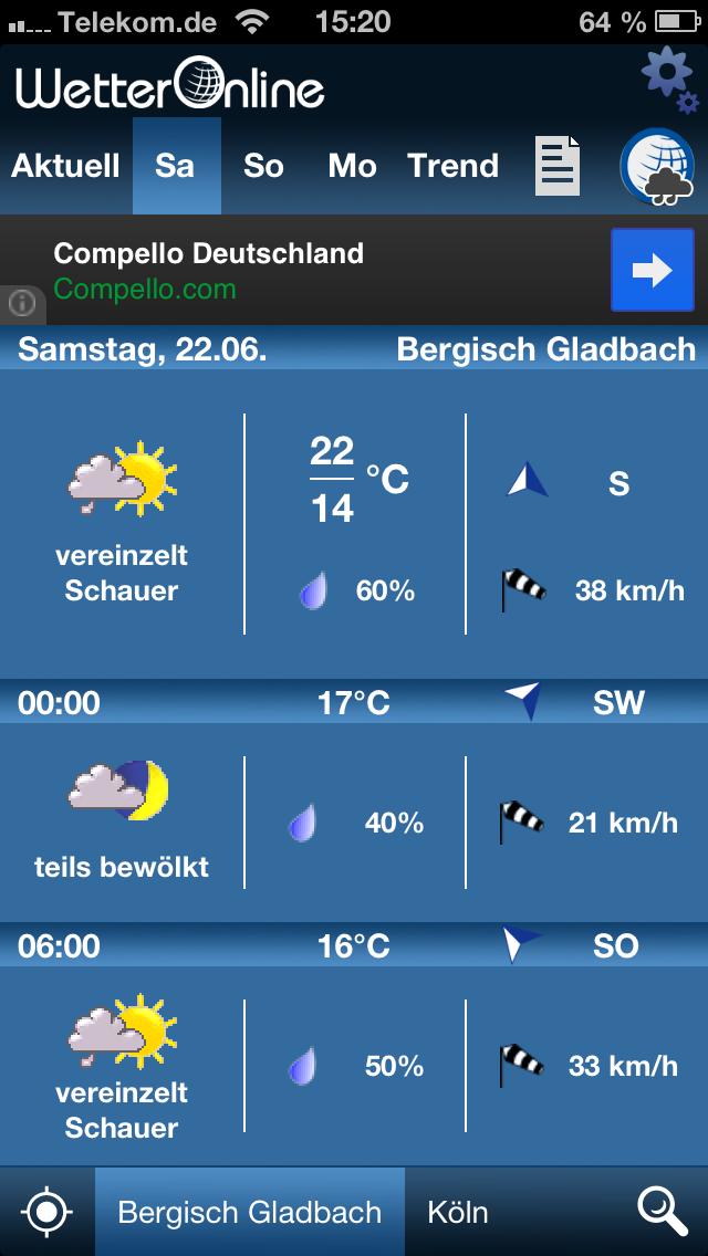 WetterApp Vorhersage