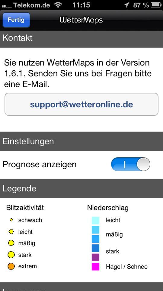 WetterMaps Support
