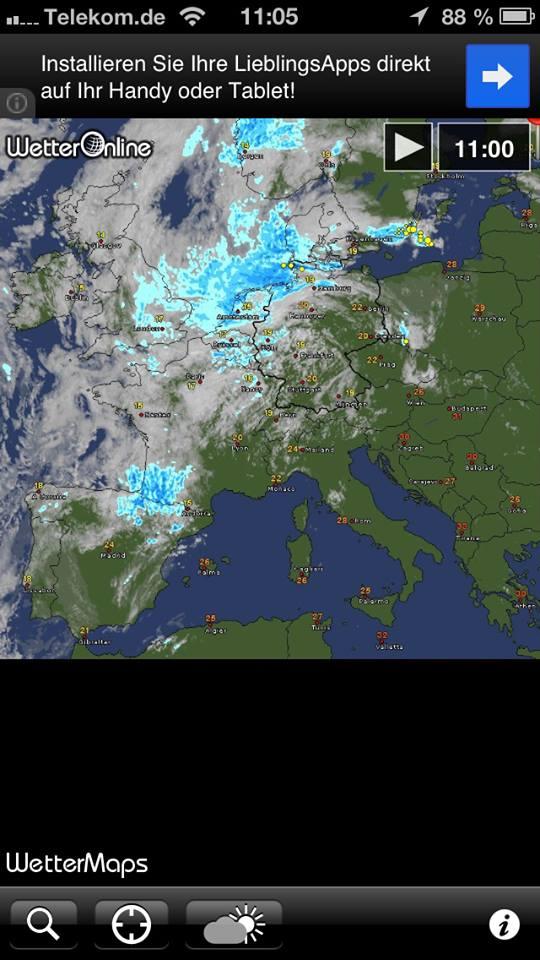WetterMaps komplette Karte