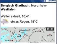 WetterMaps mobile Webseiten-Ansicht