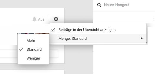 Einstellungen der Google+ Kreise