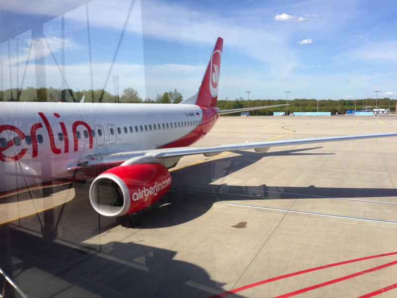 Flug zur re:publica mit Air Berlin