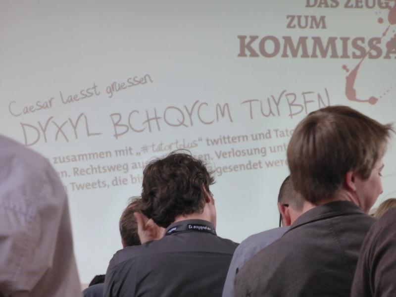 re:publica - Miträtseln bei der #tatortplus Session